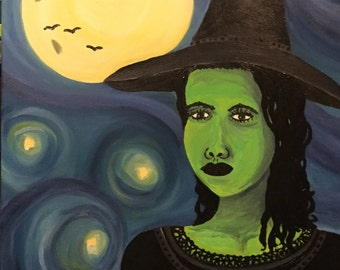 Elphaba original oil painting