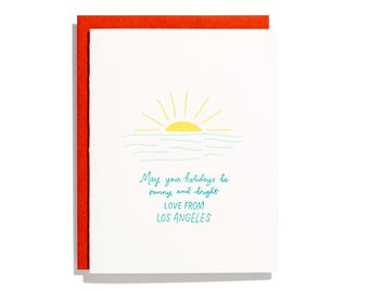Los Angeles Holiday - Letterpress Holiday Card - CH277