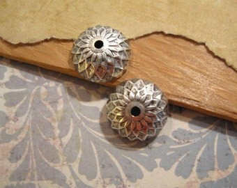 Acorn Bead Caps in Antique Silver by Nunn Design - 2 Count