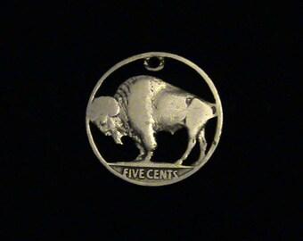 1927 - US Buffalo Nickel Cut Coin Pendant - SUPER SALE!!