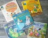 Disney Books disney Records Read Along Books Snow white Small world 1970s Childrens books