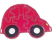 BLACK FRIDAY Red car Felt Puzzle game - Perfect for party favors - school treats - busy bags or quiet books -  #767