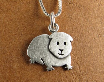 Tiny Guinea pig necklace / pendant