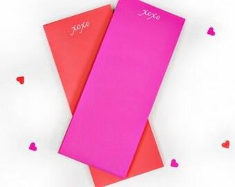Hugs and Kisses Neon Notepad Set