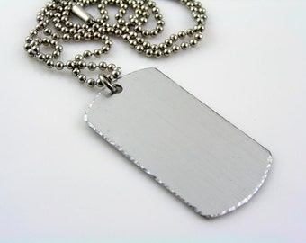Personalized Dog Tag Necklace, Boyfriend Gift, Military Dog Tag Necklace, Customizable Dog Tag Pendant, Unisex Necklace, Gift Idea, N1606