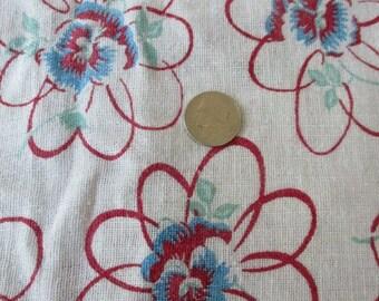 Vintage feedsack floursack fabric full feed sack AS IS spots  cotton quilt fabric yardage