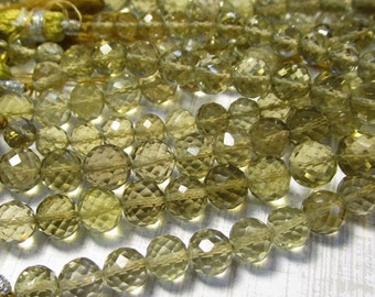 AAA Natural Champagne Quartz Round Beads, Your Choice 6mm 7mm Oro Verde Gemstone, Video On Facebook