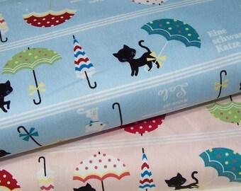 Lolo Black Cat by Kokka Japan - Japanese cotton canvas - select a length