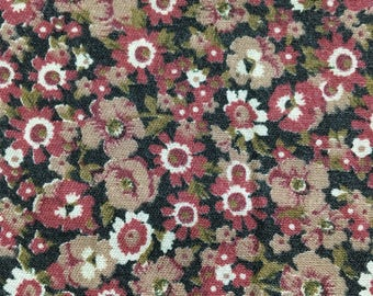 Vintage dusty pink cotton floral fabric 5 yards