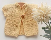 CROCHET PATTERN Seamless Top Down BABY Toddler Cardigan Jacket Sweater - Afrodille a summer top down yoked cardigan (3 sizes baby - 2yrs)