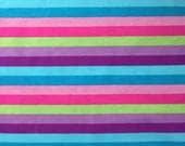 Knit spring stripes cotton lycra 1 yard