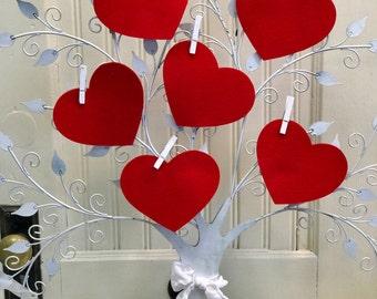 Large Red Hearts, Wool Felt Shapes, Felt Hearts, Pure Merino Felt, Wool Felt Crafts, Valentine Project, Applique, Die Cut Shapes