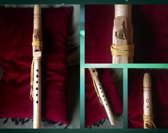 "High ""C"" Coyote Native American Style Flute, Primavera Wood"