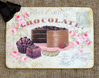 Chocolate Cake Postcard Gift or Scrapbook Tags or Magnet #11