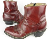 Vintage Western Ankle Boots, Mens / Unisex, Snip Toe