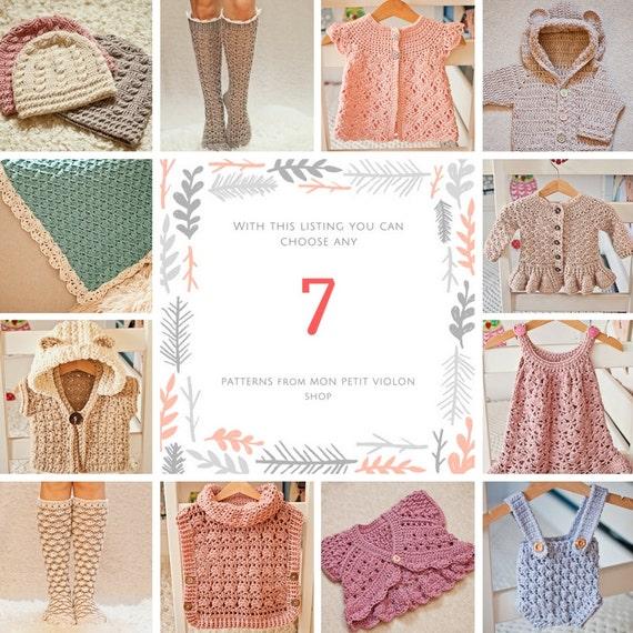 Pattern Package - choose any 7 crochet patterns