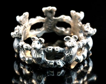 Teddy Bear Ring Silver - Teddy Bear Jewelry - Silver Teddy Bear - Teddybear Ring - Teddybear Jewelry - Cute Ring - Bear Ring - Bear Jewelry