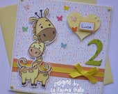 Reserved for VALENTINA - For Luca and for Zoe - Handmade blank greeting cards