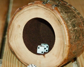 Wood dice cup - Red Maple