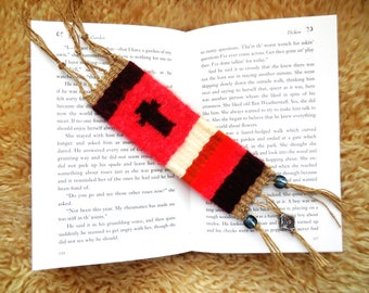 Hand Woven Bookmark...Bible Bookmark...Hand made Bookmark...Gift For Book Lover...Unique Bookmark..Cross Woven Bookmark...Religious Bookmark