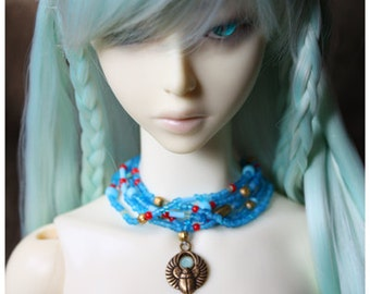 ABJD Soom SG Super Gem Egyptial style necklace choker with winged scarab