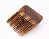 ON SALE Desert Ironwood and Bocote Wood Beard Comb (Handmde in USA) D3  Gift for Him - 5th Anniversary - Gift for Boyfriend - Gift for Husba