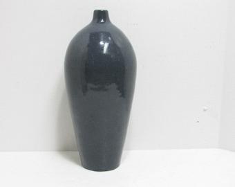 Vintage Tall Mid Century Weed Vase Signed Studio Pottery Weed Pot