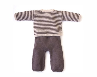 Knit Linen T-Shirt and Pants Set For Toddler Boy