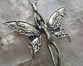 American Pewter Art Fairy Necklace