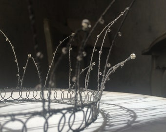 French Wire Couronne, Crown, French Brocante, Princess, Queen, SALE, Get 25% OFF, Use coupon code 25percentoffwow at checkout!