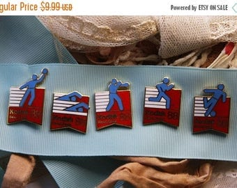 ON SALE Vintage OLYMPIC Pin Lot- Kodak Seoul, Korea 1988 Olympics- Sports Memorabilia- Collectible Sporting Pins
