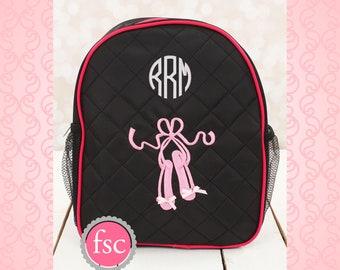BALLET dance bag, ballerina bag, ballerina shoe bag, girls dance bag, ballet class bag, ballet slippers bag