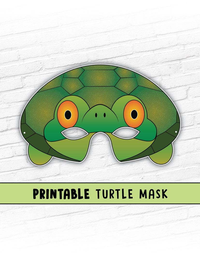 tortoise mask template - turtle mask tortoise mask party mask halloween costume