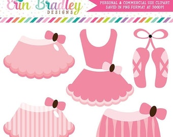 50% OFF SALE Pink Ballerina Tutus Clipart Commercial Use Clip Art Graphics Instant Download