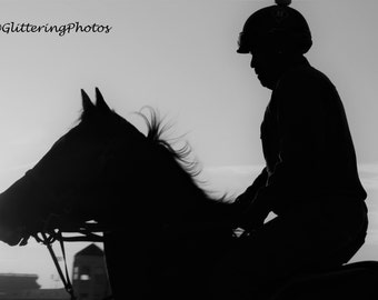 Horse and Rider, Churchill Downs, Louisville KY, Kentucky Derby, Fine Art Photography, Print. Glossy, 8 x 10