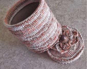 Bonnie's - Crochet Cotton Thread Item Tech/ Gadget Stasher *You Are Shopping @ cyicrochet *