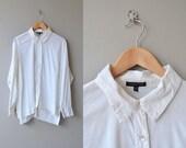 Eileen Fisher blouse | oversized white shirt | vintage white button down blouse