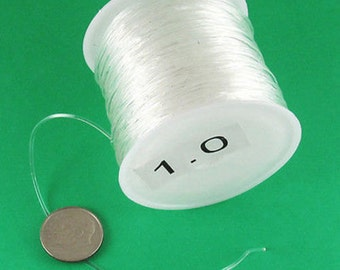 80ft/25 Meters Stretchy Clear Elastic String Beading Cord 1mm