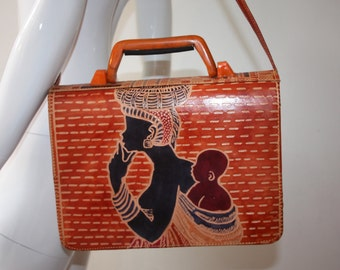 Vintage Traditional African Leather Bag