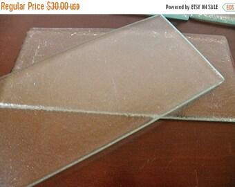 SALE 5 Textured Glass TILES