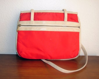 1970s Red and Tan Roller Rink Tote by MARY ANN ROSENFELD