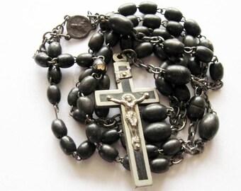 Vintage Black Rosary Germany