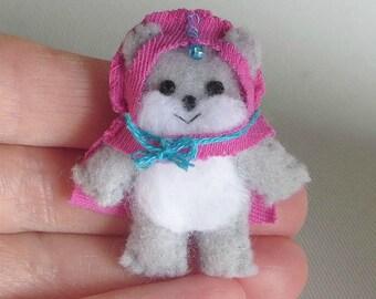 Ewok Princess Kneesaa miniature felt stuffed animal Star Wars figure