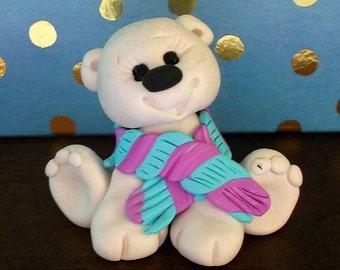 Polar Bear polymer clay figurine