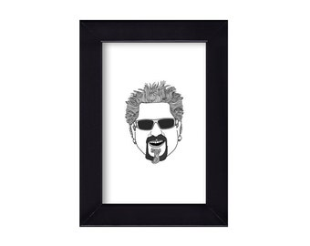 4 x 6 Guy Fieri / Food Network Portrait
