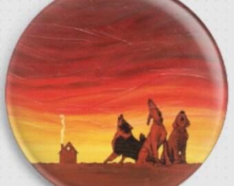Needle Minder, Licensed Art By Robert Bretz, Canine Choir, Cross Stitch Keeper, Fridge Magnet, Dog Magnet