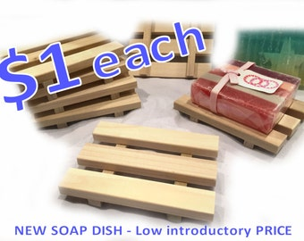 SALE 105 soap dishes - NEW Soap Dish - 1 DOLLAR each - 3x4 natural poplar wood soap dishes -