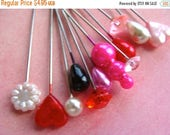 ON SALE One Dozen Pretty Valentine Stick Pins