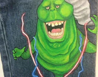 Custom painted Ghostbusters 5 characters  long Jeans or Capri, sizes 12m to 24m, 2, 2T to 12