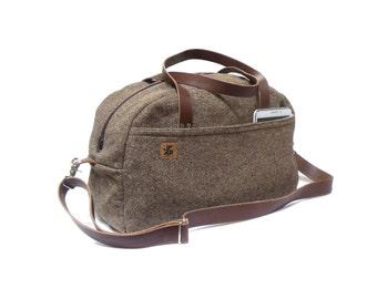 Duffel bag - brown tweed